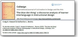 """Cover Image from """"The Blue Dot Thing: ... an empirical study of design interlanguage."""